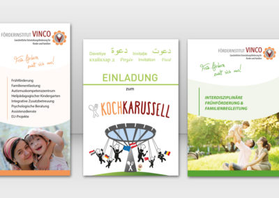 Flyers and other printing material Vinco