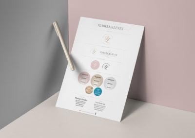 Branding Board: Izabella Levey